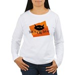 Trick or Treat Kitty Women's Long Sleeve T-Shirt