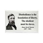Henry David Thoreau 14 Rectangle Magnet (100 pack)