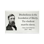 Henry David Thoreau 14 Rectangle Magnet (10 pack)