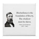 Henry David Thoreau 14 Tile Coaster