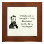 Henry David Thoreau 14 Framed Tile