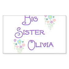 Big Sister Olivia Rectangle Decal