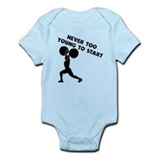 Never Too Young To Start Weightlifting Body Suit