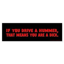 Red Hummer Bumper Sticker
