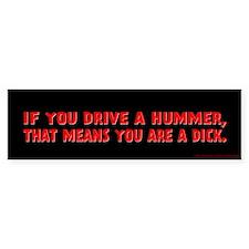 Red Hummer Bumper Sticker