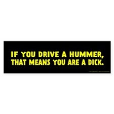 Yellow Hummer Bumper Sticker