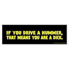 Yellow Hummer Bumper Sticker