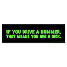 Green Hummer Bumper Sticker