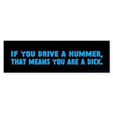 Blue Hummer Bumper Sticker
