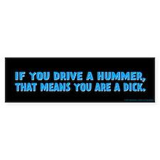 Blue Hummer Bumper Sticker