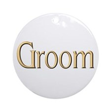 Groom Ornament (Round)
