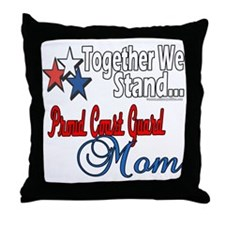 Coast Guard Mom Throw Pillow