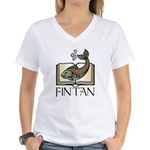 Fint Tan 1 Women's V-Neck T-Shirt