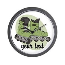 Personalized Rollerblade Wall Clock