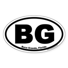 "Boca Grande, Florida ""BG"" Oval Decal"