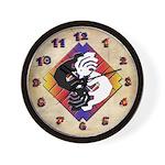 Kokopelli Yin Yang Wall Clock