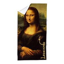 Mona Lisa By Leonardo Beach Towel