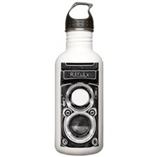 Vintage Retro Camera Water Bottle