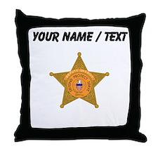 Deputy Sheriff Badge (Custom) Throw Pillow