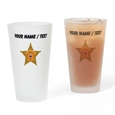 Deputy Sheriff Badge (Custom) Drinking Glass