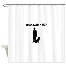 K-9 Police Officer (Custom) Shower Curtain