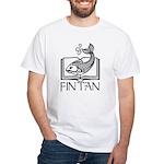 Fin Tan Rainbow White T-Shirt