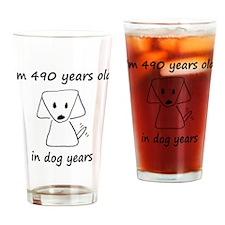 70 dog years 6 Drinking Glass