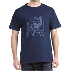 Fin tan lt blue line Dark T-Shirt