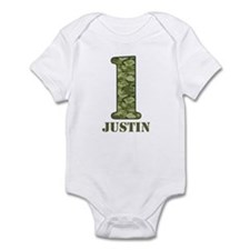 Green Camo 1st Birthday Onesie