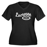 Lacrosse Mom Women's Plus Size V-Neck Dark T-Shirt
