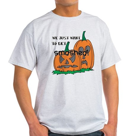 Halloween Smashed Pumpkins Light T-Shirt