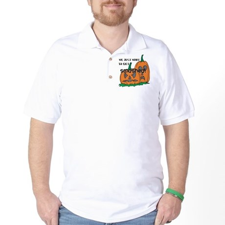 Halloween Smashed Pumpkins Golf Shirt