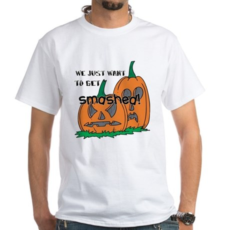 Halloween Smashed Pumpkins White T-Shirt