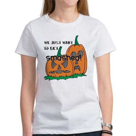 Halloween Smashed Pumpkins Women's T-Shirt