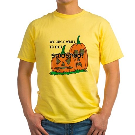 Halloween Smashed Pumpkins Yellow T-Shirt
