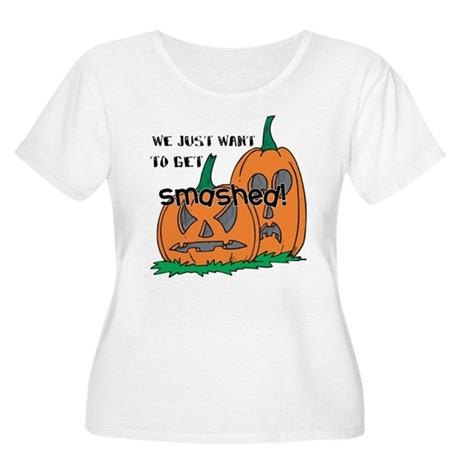 Halloween Smashed Pumpkins Women's Plus Size Scoop