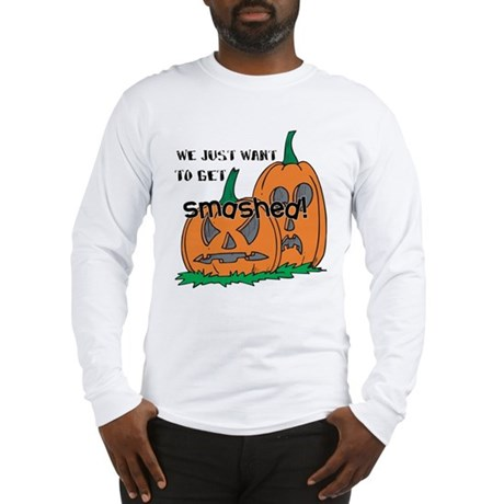 Halloween Smashed Pumpkins Long Sleeve T-Shirt