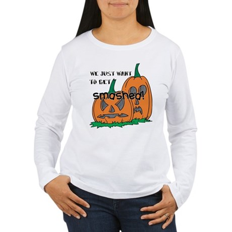 Halloween Smashed Pumpkins Women's Long Sleeve T-S