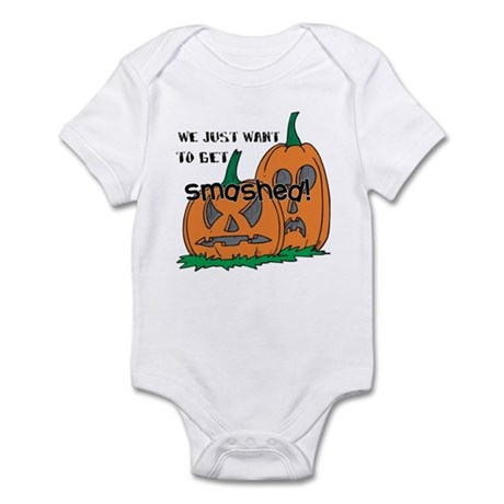 Halloween Smashed Pumpkins Infant Bodysuit