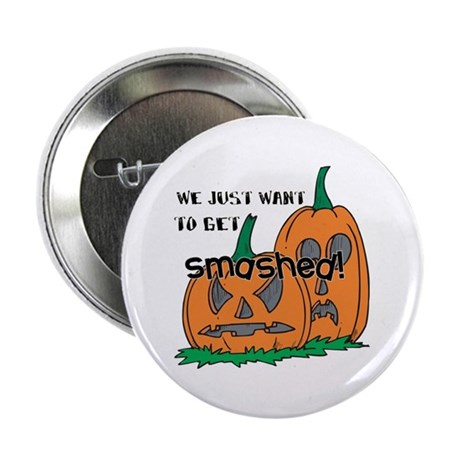 "Halloween Smashed Pumpkins 2.25"" Button (100 pack)"