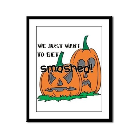 Halloween Smashed Pumpkins Framed Panel Print