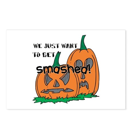 Halloween Smashed Pumpkins Postcards (Package of 8