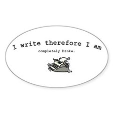 Broke Writer's Decal
