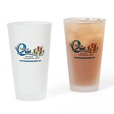 UAQ Logo tag line no shadow Drinking Glass