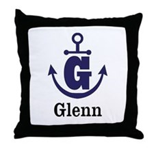 Personalized Anchor Monogram G Throw Pillow