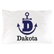 Personalized Anchor Monogram D Pillow Case