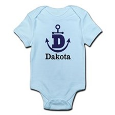 Personalized Anchor Monogram D Body Suit