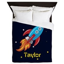 Rocket Ship in Outer Space, Boy or Girl Kid's Quee