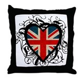 Heart England Throw Pillow