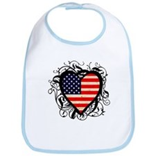 Heart USA Bib